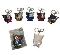 Reversible Sequin Key Chain [Owl]